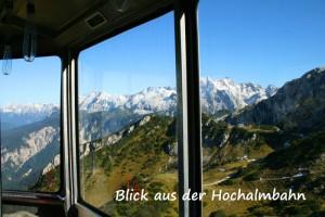 Blick aus Fenster einer Gondel - Hochalmbahn Garmisch-Partenkirchen